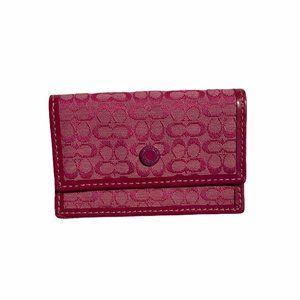COACH Pink Card Holder